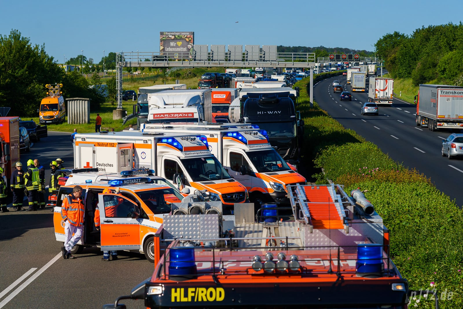 Unfallmeldung Autobahn