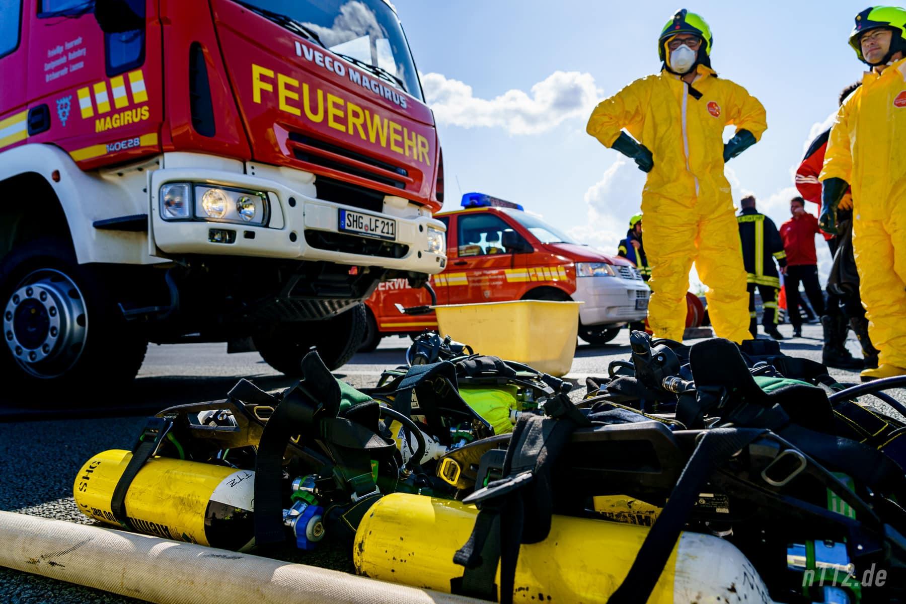 """Spezialisten der """"Einsatzstellenhygiene"""" (Foto: n112.de/Stefan Simonsen)"""