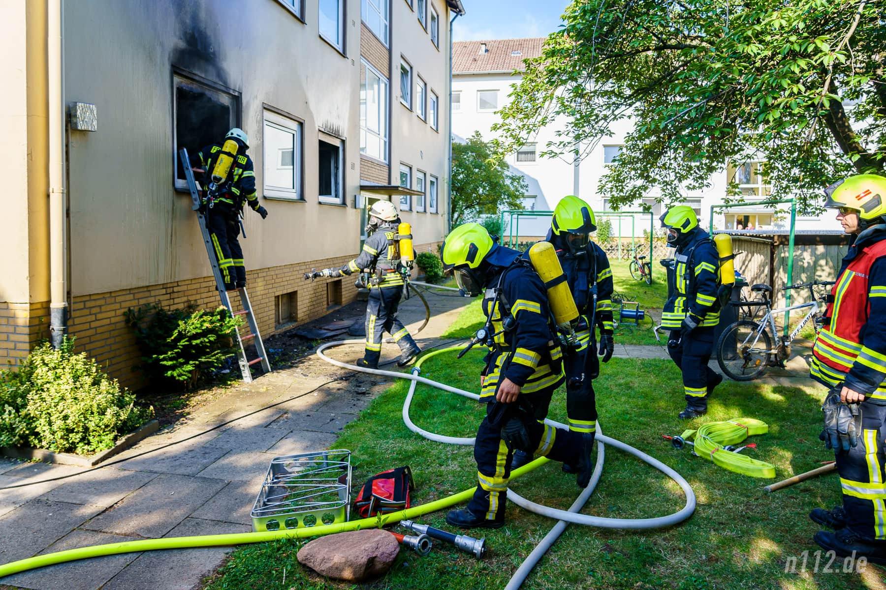 Feuerwehreinsatz an der Horster Straße (Foto: n112.de/Stefan Simonsen)