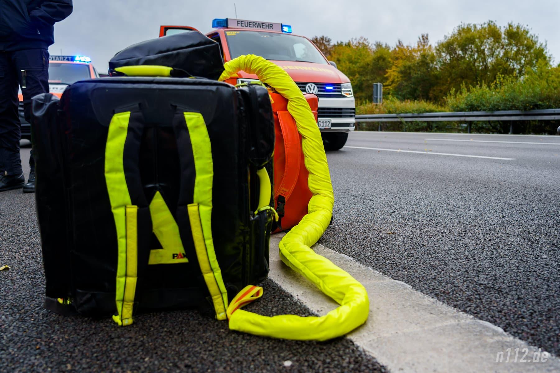 """Eine sogenannte """"Rettungs-Boa"""" der Firma Pax-Bags lag ebenfalls bereit, kam aber nicht zum Einsatz (Foto: n112.de/Stefan Simonsen)"""
