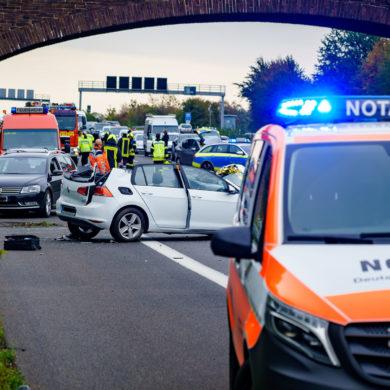 Die Unfallstelle auf der A2 zwischen Lauenau und Rehren (Foto: n112.de/Stefan Simonsen)
