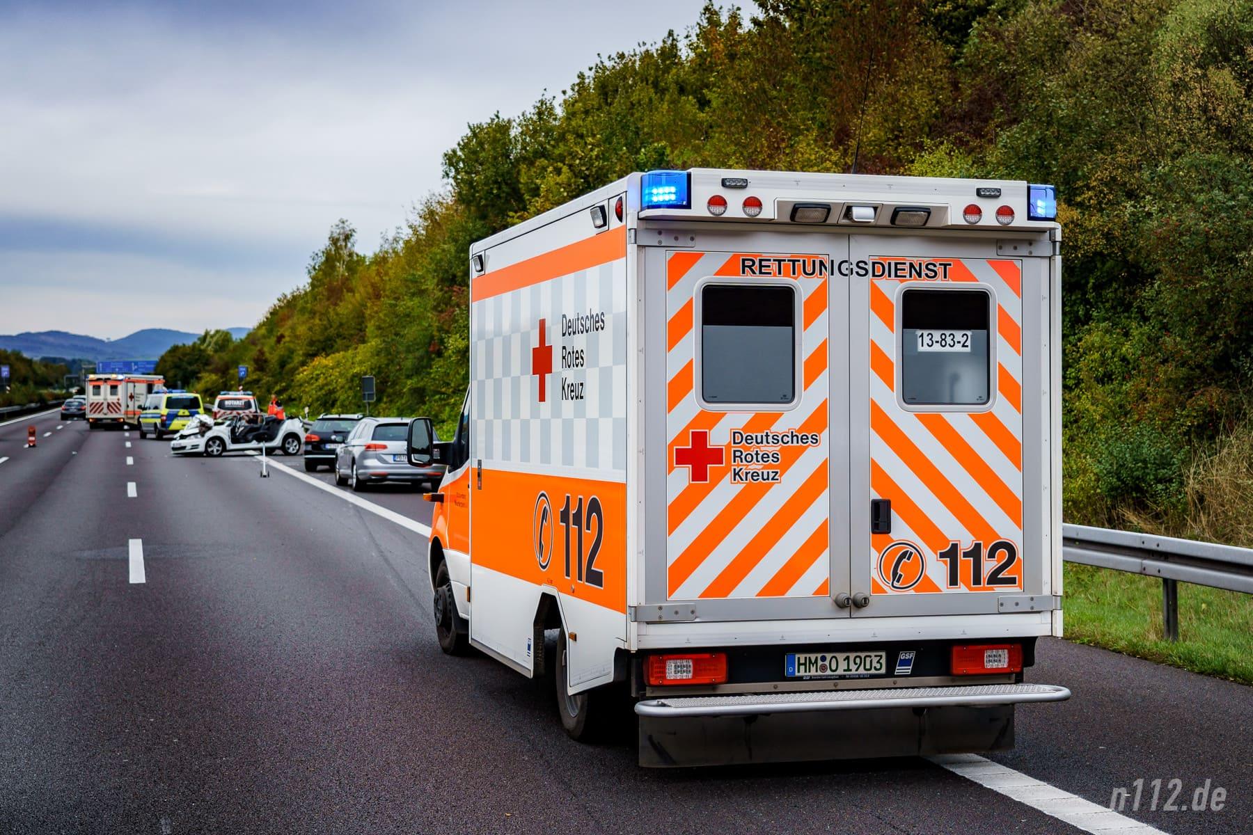 Aushilfe im Landkreis Schaumburg: Ein Rettungswagen aus Bad Münder (Foto: n112.de/Stefan Simonsen)